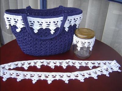 Encaje tejido a crochet paso a paso DIY