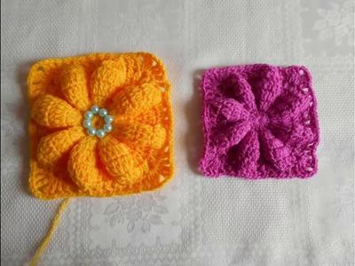 Flor en relieve fácil y rápido. paso a paso crochet