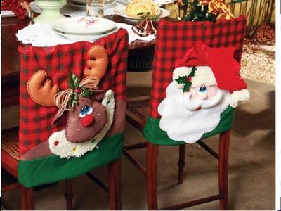 Funda Navideña para Silla - Decoración para navidad DIY