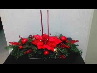 Haz un bonito centro de mesa navideño DIY