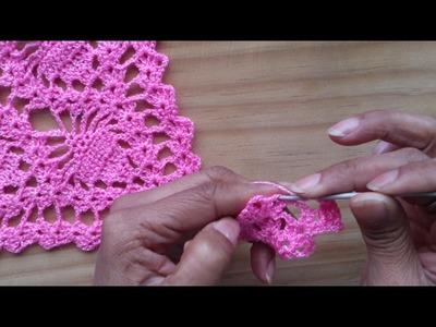 """Muestra """"2"""" de tejido a crochet para capita o poncho (PARTE 1 DE 2)"""