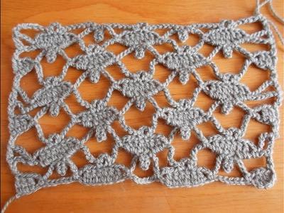 Palomas en crochet - punto fantasía - puntada de palomas