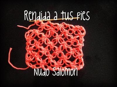 Puntos fantasía crochet: Nudo Salomón.