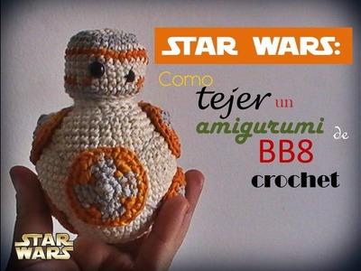 STAR WARS: como tejer un amigurumi de BB8 a CROCHET (zurdo)