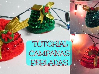 Tutorial Campanas navideñas a crochet. luces