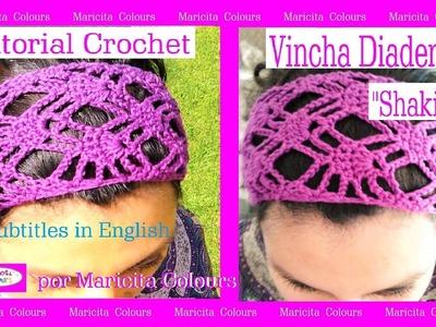 "Vincha.Headband a Crochet ""Shakira"" por Maricita Colours subtitles in English"