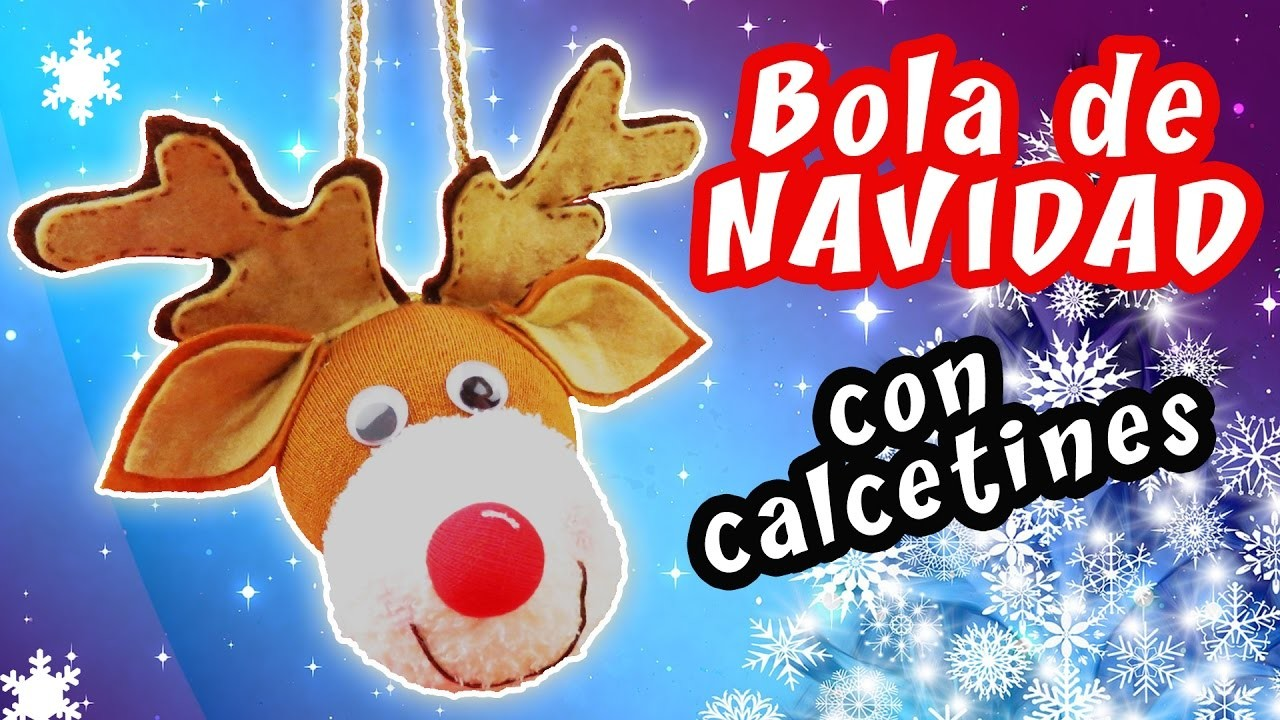 BOLA DE NAVIDAD CON CALCETINES - IDEA FÁCIL PARA NAVIDAD   Manualidades aPasos