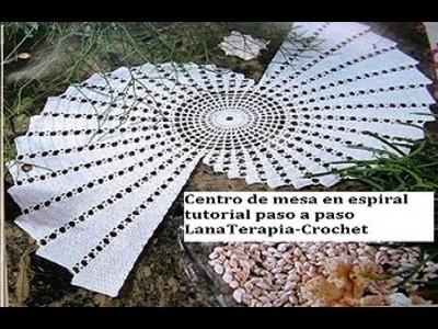 Centro de mesa en espiral part 1.  LanaTerapia- Crochet
