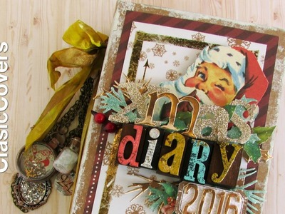 Christmas Diary Tutorial - Scrapbook Chipboard Covers