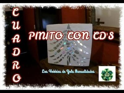 Como hacer Cuadro de pinito con cd's. Los Hobbies de Yola