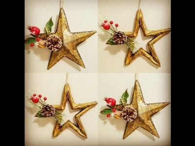Cómo hacer estrellas de navidad reciclando cartón