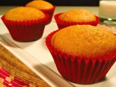 Como hacer mantecadas de naranja. How to make orange cupcakes.