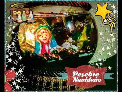Como Hacer un Pesebre Navideño (How to do a manger for the Christmas tree) - Creaciones Betina