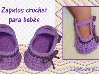 Como tejer zapaticos, patucos crochet (ganchillo) para bebés de todas las edades - Parte 2.2