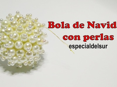 DIY: Bola Navideña con perlas