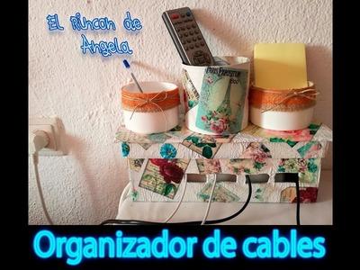 DIY Como hacer una caja  organizadora de cables  Organizador de cables