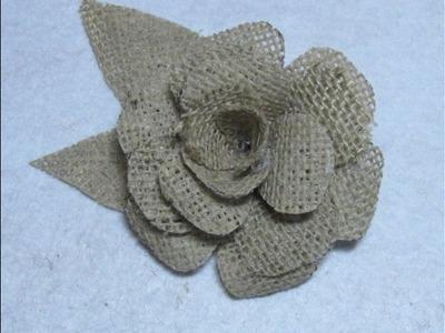 #DIY Como hacer  una flor de yute o arpillera #DIY How to make a flower jute or burlap