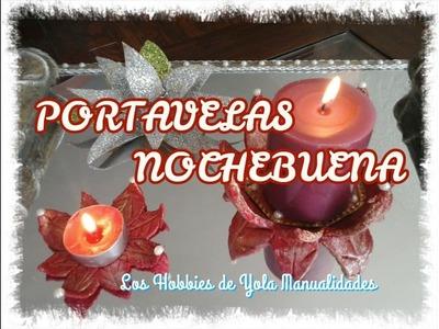 DIY Portavelas Nochebuena. Los Hobbies de Yola