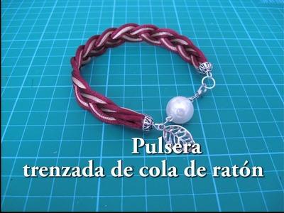 #DIY -#Pulsera trenzada de cola de ratón #DIY - # Braided bracelet mouse tail