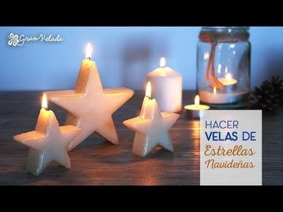 Hacer velas de estrellas navideñas