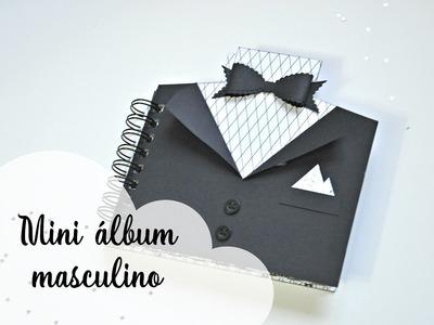 Mini álbum scrapbook blanco y negro para hombre | álbum masculino |