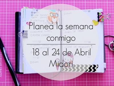 Planea la semana conmigo 18-24 de Abril. Midori   Julieta Jareda