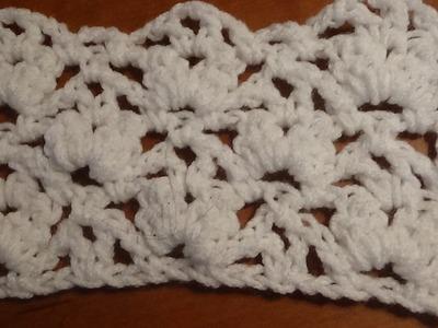 Puntada a crochet muy sencilla y fácil, ideal para tapetes o bufandas.
