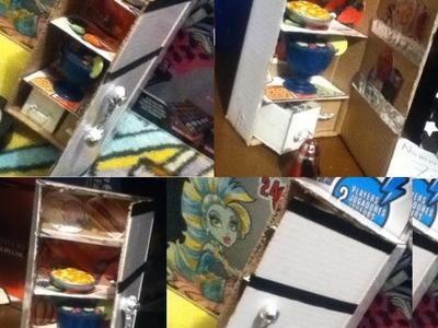 Tutorial como hacer un refrigerador, para muñecas. How to make a doll refrigerator