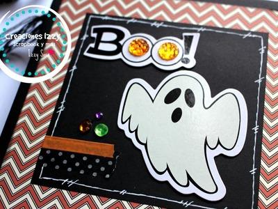 Tutorial Mini Album Scrapbook para Halloween * Creaciones Izzy