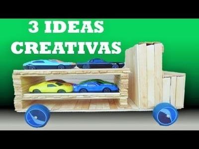 3 Creativas con papel y palitos
