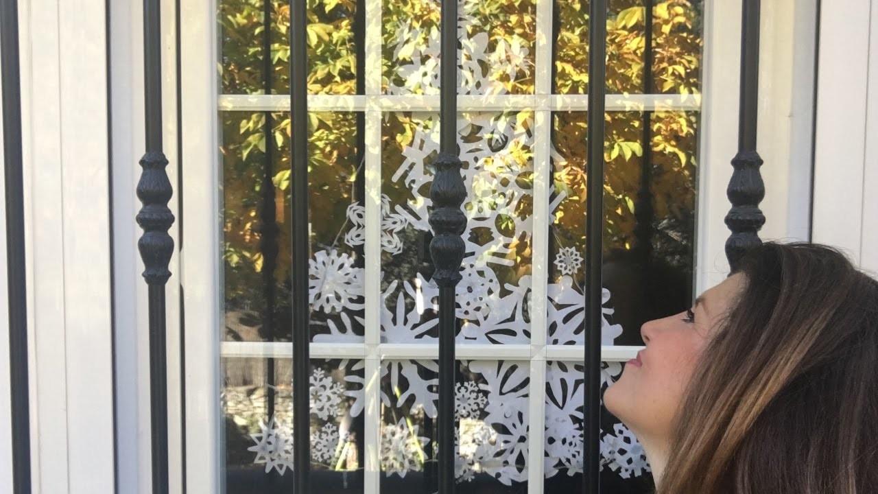 A Papá Noel le encanta esta DECORACIÓN NAVIDEÑA. DIY Snow flakes