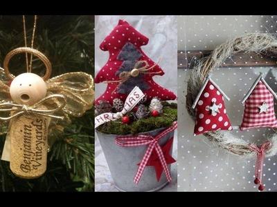 Adornos de Navidad con Fieltro - Decoracion DIY en Fieltro para Navidad