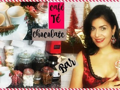 Coffee Chocolate and Tea Bar ideas | Diy | Decorar la Cocina en Navidad