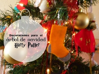 Decoraciones DIY para un árbol navideño de Harry Potter