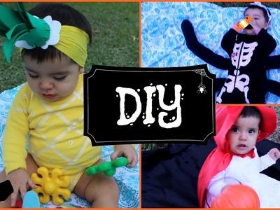Disfraces de Halloween para BEBE.DIY 3 ideas faciles, rapidas y economicas.Colaboracion