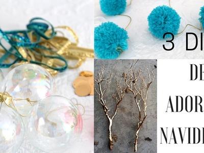 DIY ADORNOS NAVIDEÑOS | guirnalda de pompones, ramas y esferas rellenas