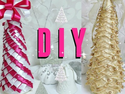 DIY ÁRBOL NAVIDEÑO DE LISTONES.DIY RIBBON CHRISTMAS TREE