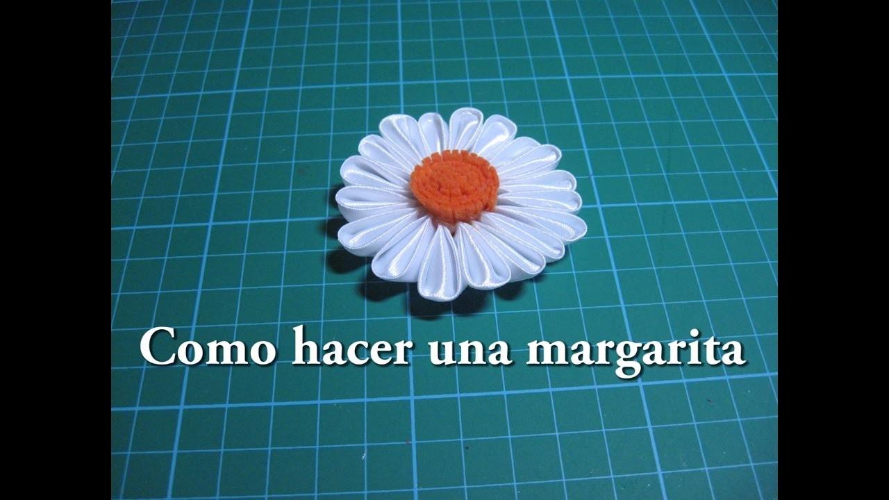 #DIY Como hacer una margarita de tela 1ª parte  #DIY How to make a daisy fabric.