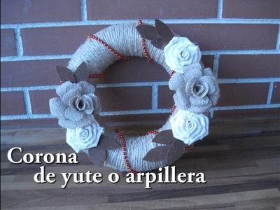 #DIY -Corona de Navidad de yute #DIY - Jute Christmas Ring