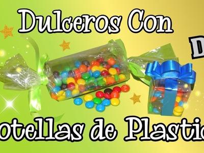 DIY dulceros con botellas de Plastico Manualidades para Fiestas
