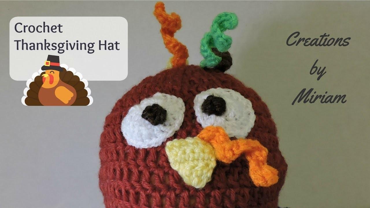 DIY gorra de Pavo colorido para niños, Thanksgiving Turkey beanie for kids.