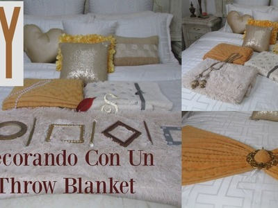 DIY: How To Style | Your Throw Blanket | Decora tu Cama