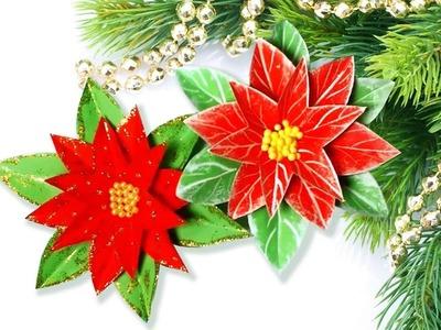 DIY Manualidades de Navidad Pastoras.Flor de pascua para decorar el arbol de Navidad