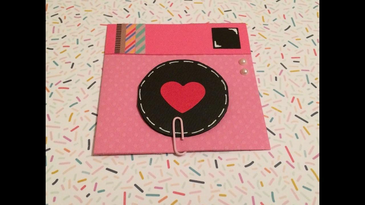 DIY: Tarjeta cámara con mini álbum.cámara vintage. mini álbum