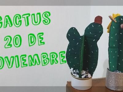 Haz cuctus DIY reciclando. 20 de noviembre. manualidad