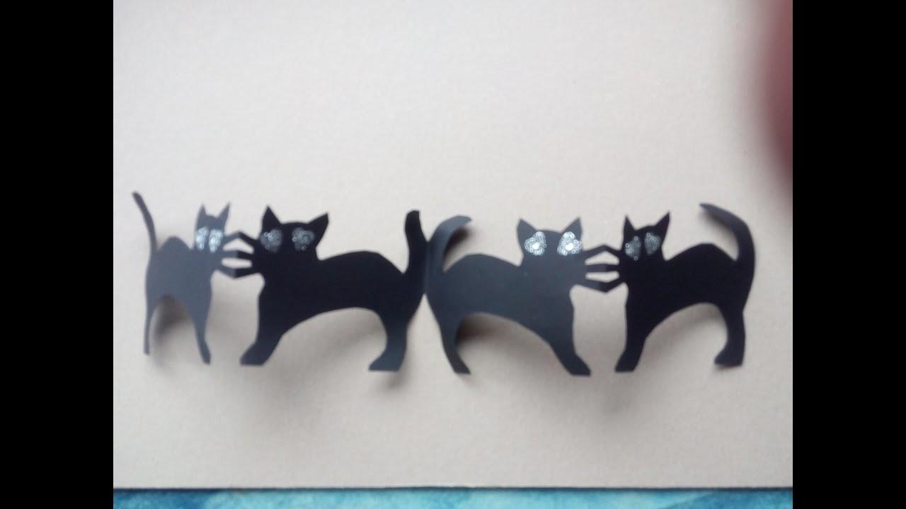Manualidades Para Ninos Como Hacer Guirnaldas De Gatos Para Halloween