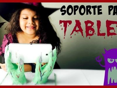 SOPORTE PARA TABLET, DIA DE BRUJAS (HALLOWEEN) Ash+LesTv, MANUALIDADES