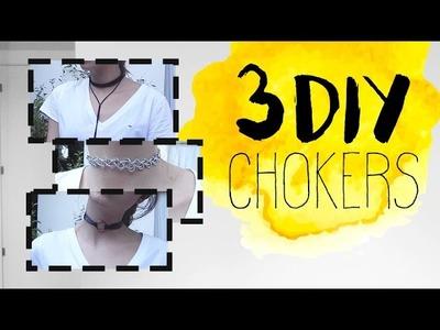 3 DIY CHOKERS - MUY Fácil y Rápido | Miriam Sancho