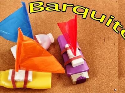 Barquitos de juguete con material reciclable - Manualidades para Niños