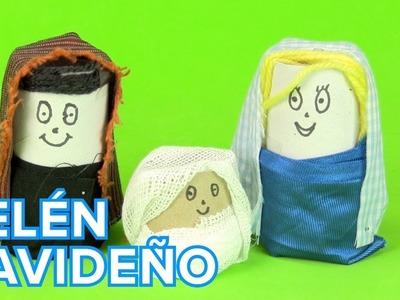 Belén de Navidad con rollos de papel | Manualidades de reciclaje